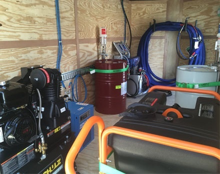 7x16 E-20 Shore Power spray foam rig and equipment