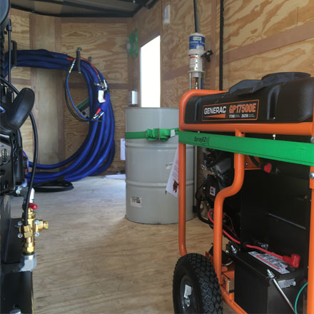 7x16 E-20 Spray Foam Trailer and Spray Foam Equipment for sale