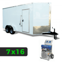 7x16 Spray Foam Rig Package with GRACO E-20 Spray Machine - Shore Power Package - Spray Foam Insulation Trailers, Equipment and Coating