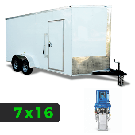 7x16 Spray Foam Rig Package with GRACO E-30 Spray Machine - Shore Power Package - Spray Foam Insulation Trailers, Equipment and Coating
