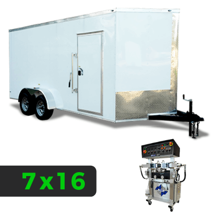 7x16 Spray Foam Rig Package with PMC PH-2 Spray Machine - Shore Power Package - Spray Foam Insulation Trailers, Equipment and Coating