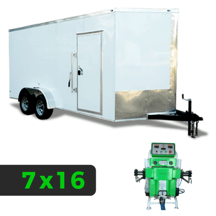 7x16 Spray Foam Rig Package with SprayEZ 3000 Spray Machine - Shore Power Package - Spray Foam Insulation Trailers, Equipment and Coating