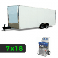 7x18 Spray Foam Rig Package with GRACO E-20 Spray Machine - Insulated Package - Spray Foam Insulation Trailers, Equipment and Coating