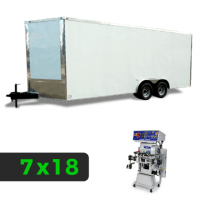 7x18 Spray Foam Rig Package with GRACO GH-2 Spray Machine - Insulated Package - Spray Foam Insulation Trailers, Equipment and Coating