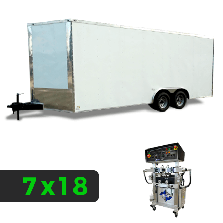 7x18 Spray Foam Rig Package with PMC PH-2 Spray Machine - Insulated with Shore Power Package - Spray Foam Insulation Trailers, Equipment and Coating