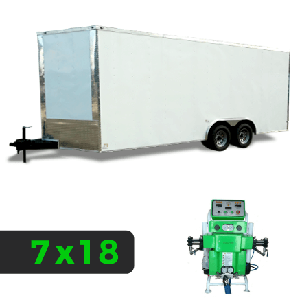 7x18 Spray Foam Rig Package with SprayEZ 3000 Spray Machine - Insulated Package - Spray Foam Insulation Trailers, Equipment and Coating