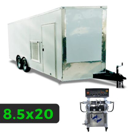 8_5x20 Spray Foam Rig Package with PMC PH-2 Spray Machine - Insulated Rig Package - Spray Foam Insulation Trailers and Equipment
