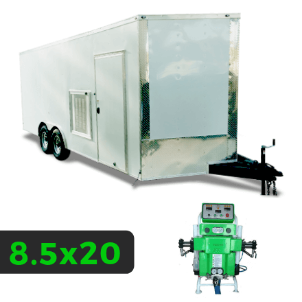 8_5x20 Spray Foam Rig Package with SprayEZ 3000 Spray Machine - Insulated Rig- Spray Foam Insulation Trailers and Equipment