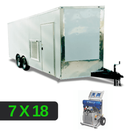Louver Setup 7x18 Spray Foam Rig Package with GRACO E-20 Spray Machine - Insulated Package - Spray Foam Insulation Trailers, Equipment and Coating