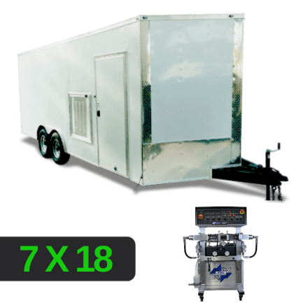 7x18 Spray Foam Rig Package with PMC PH-40 Spray Machine - Insulated Package- louver setup - Spray Foam Insulation Trailers, Equipment and Coating