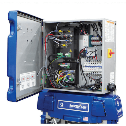 Graco Reactor 2 E30 - Spray Foam Machine Available at SprayEZ - Electrical Panel View