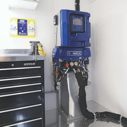 Graco Reactor 2 E30 - Spray Foam Machine Available at SprayEZ - Installed on Rig