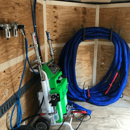 SprayEZ 3000 Spray Foam Machine Side - Spray Foam Insulalation Equipment