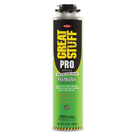 GREAT STUFF PRO PESTBLOCK FOAM INSULATION SEALANT - Spray Foam Material Single Component