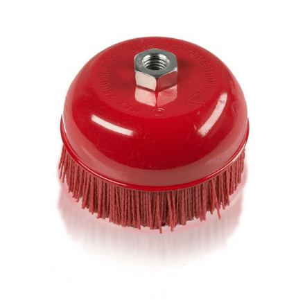 Langeman 6 Inch Abrasive Cup Brush - Polyurea Coating Accessories