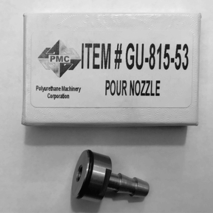 pmc part number gu-815-53 pour nozzle - pmc parts for spray foam insulation equipment - available at sprayez