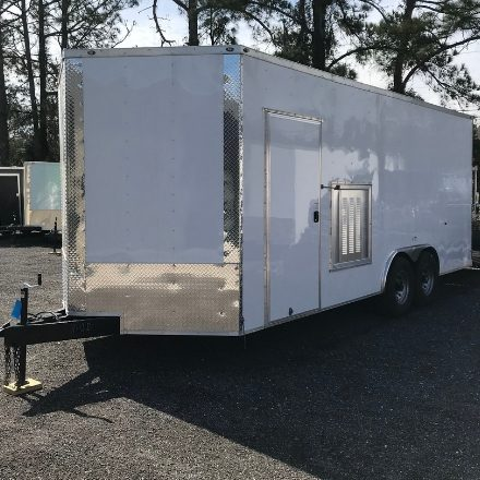 For Sale From SprayEZ Equipment and Coatings trailer with louver set-up for  Spray Foam, Foam Jacking and Roofing