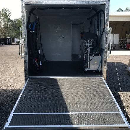 For Sale- Rear Louver Set Up Spray Foam Trailer