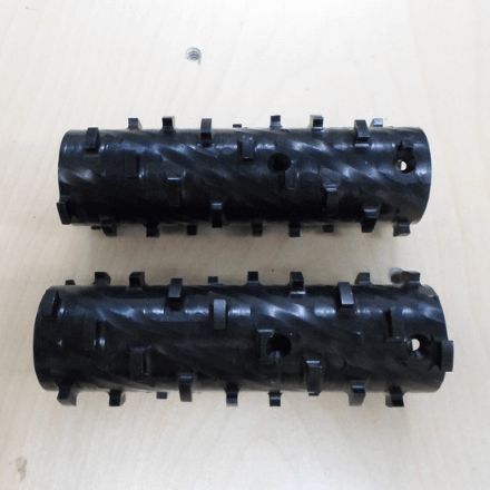 Set of 2 Wide Closed Cell Cobs for the 27.5 Closed Cell CI Cutter with Short Axle - Spray Foam Insulation Tools and Accessories Available at SprayEZ