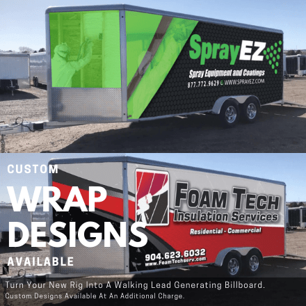 Custom Designed Wraps for your rig-- Drum up new clients for your business easily -- call for pricing information