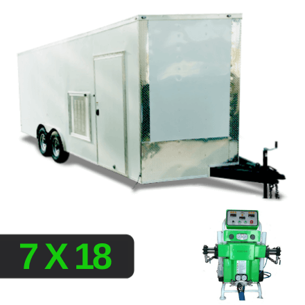 Louver Set up 7x18 Spray Foam Rig Package with SprayEZ 3000 Spray Machine - Insulated Package - Spray Foam Insulation Trailers, Equipment and Coating