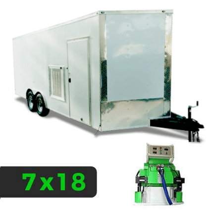 7x20 Spray Foam Rig Package with SprayEZ 4500 Spray Machine - Insulated Rig- Spray Foam Insulation Trailers and Equipment
