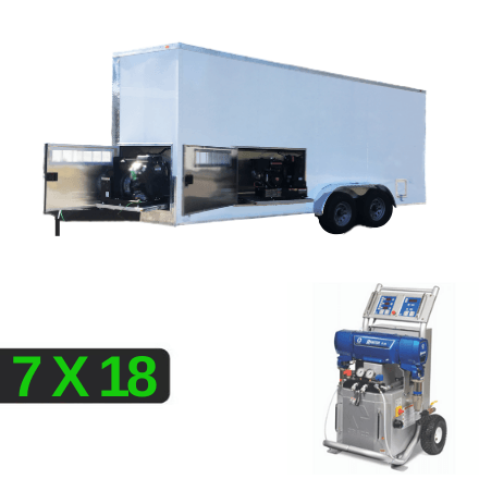 7x18 E-20 Spray Rig Package with Separated Compartments for your Generator and Compressor accessible with Slide-Out Panels