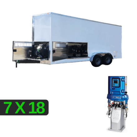 7x18 E-30 Spray Rig Package with Separated Compartments for your Generator and Compressor accessible with Slide-Out Panels