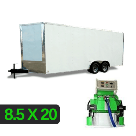 8_5x20 Spray Foam Rig Package with SprayEZ 4500 Spray Machine - Insulated Rig- Spray Foam Insulation Trailers and Equipment